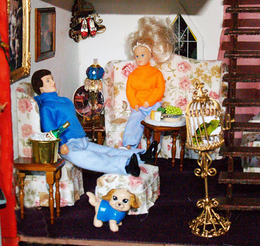 The Haunted Doll House Living Room