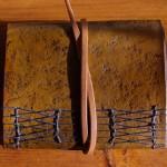 leather handmade notebook back