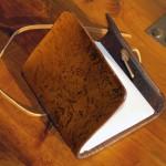 leather handmade notebook open