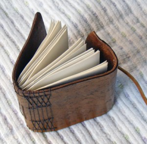 Leather Handmade Notebook opem